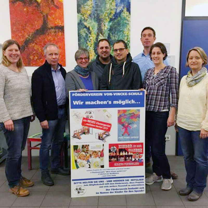 Vorstand des Fördervereins der Von-Vincke Schule im Jahr 2019