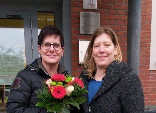 Kinder und Kollegium heißen Inga Rüth in der Von-Vincke-Schule willkommen!